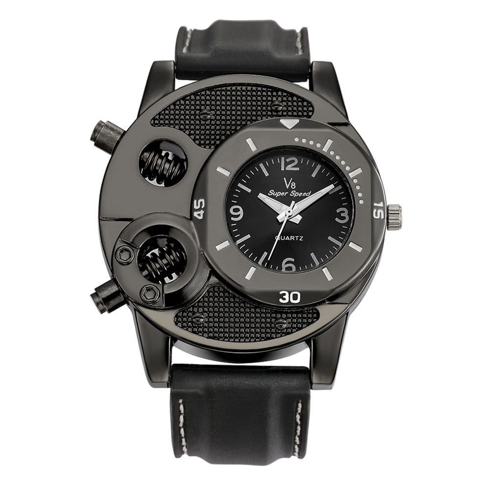 Top Brand Luxury Fashion Mens Wristwatches Black