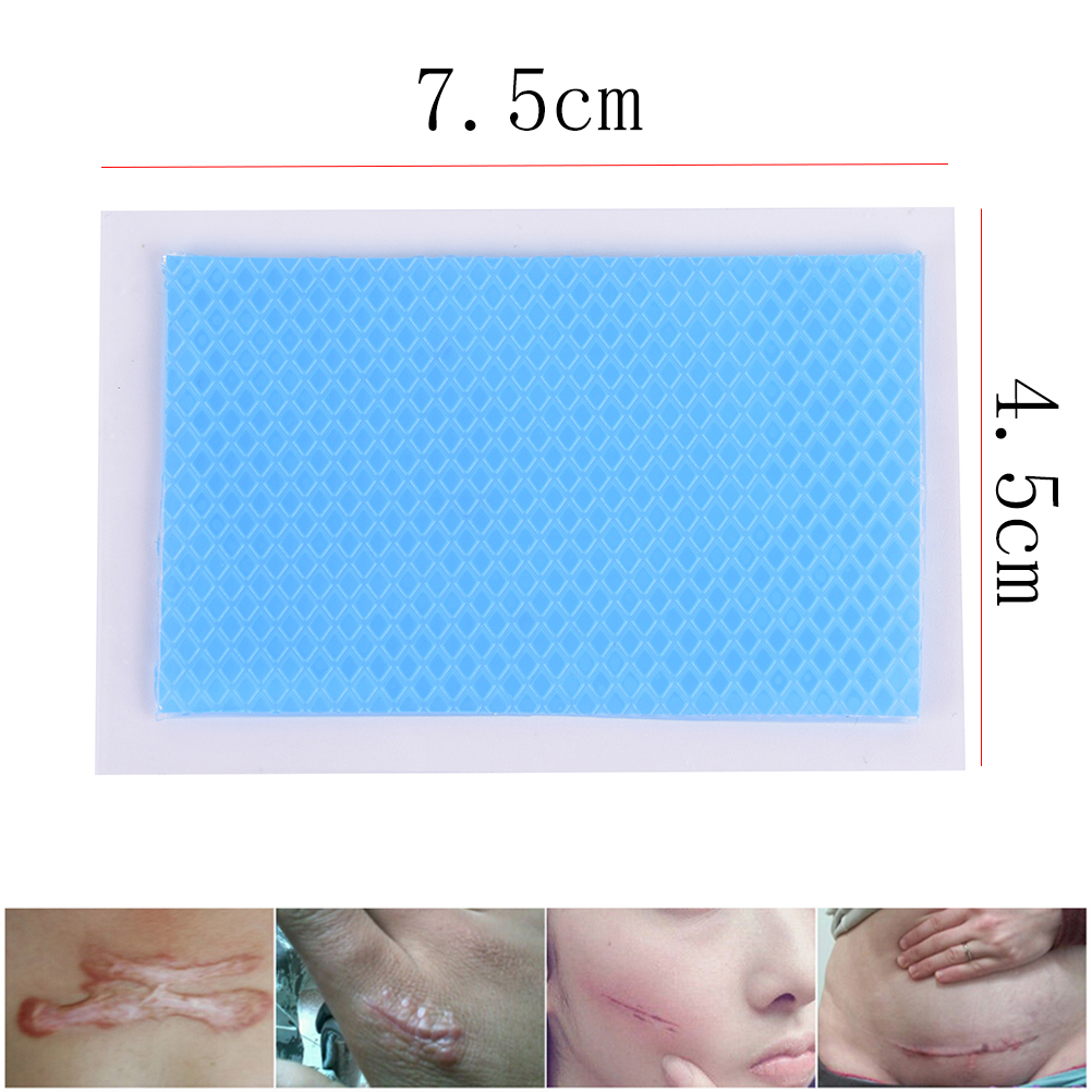 4.5x7.5cm Silicone Gel Scar Sheet Removal Patch Reusable Acne Gel Scar Therapy Patch Remove Trauma Burn Sheet Skin Repair