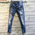 Odinokov Brand Men Ripped Jeans Design Slim Fit Fashion Biker Jeans For Men Denim Skinny Straight Jeans