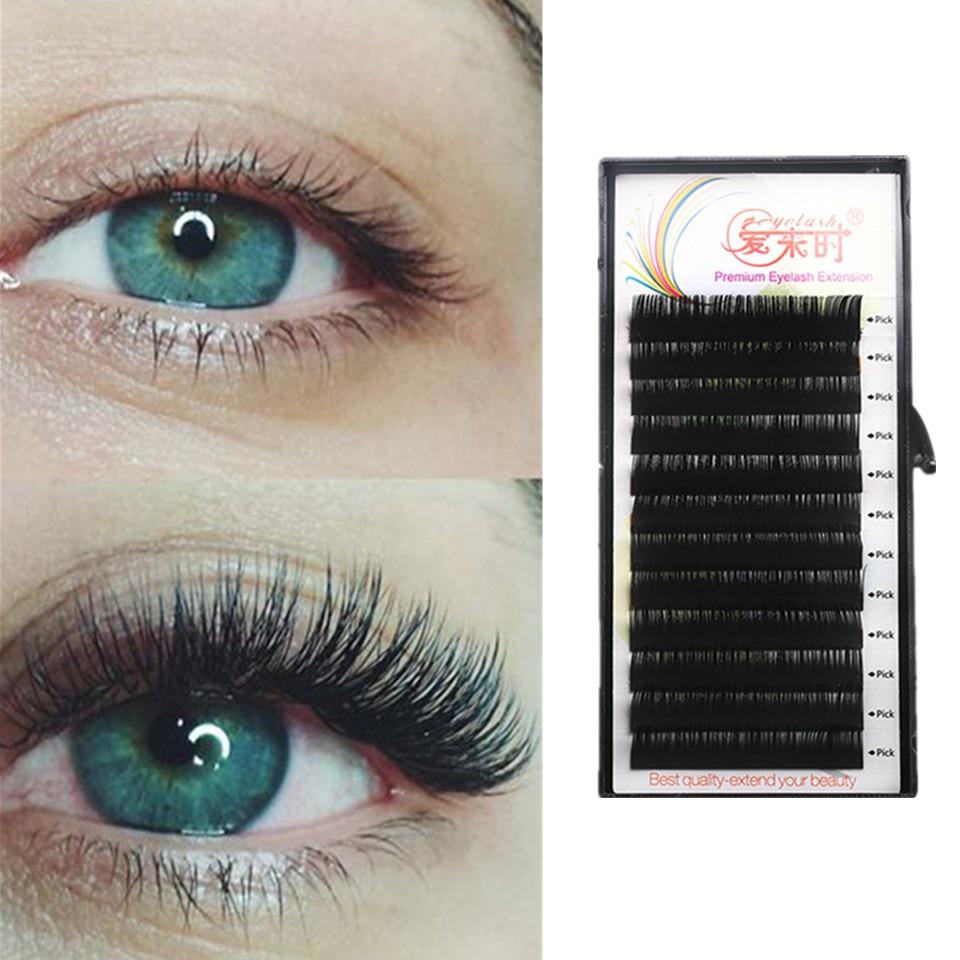 All Size Individual Eyelash Extension BCD Curl High Quality False Mink Lash Classical False Eyelash Extension Cilia