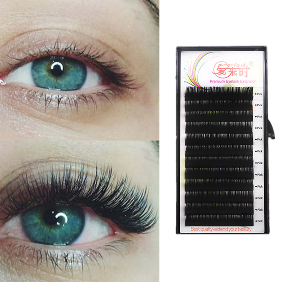New Short Stem 4d Fans Volume Eyelash Extension Individual Premium Cilios Premade Russian Cluster Eye Makeup Tool 12lines Excellent In Cushion Effect Beauty & Health Beauty Essentials