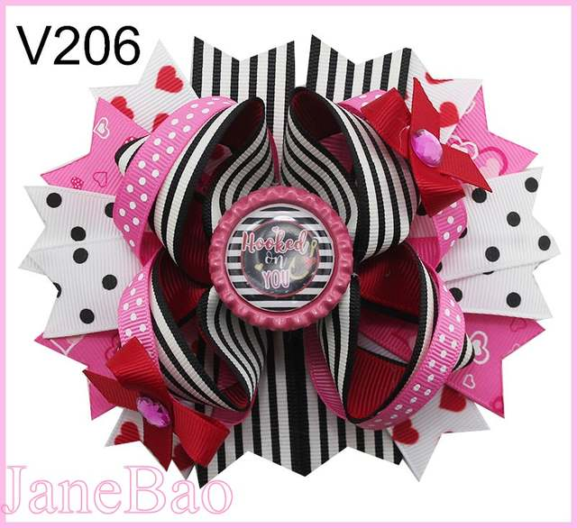 Online Shop Free Shipping 30pcs Valentine S Day Sprinkles Hair Bows