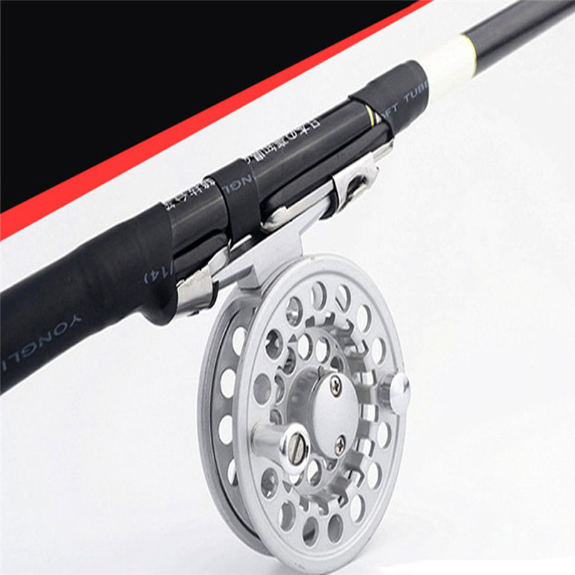 Fishing Reel Cut Fishing Reel Large Arbor Left/Right Coil Die Casting Aluminium Fly Reel Wheel Fishing Tackle #2M09