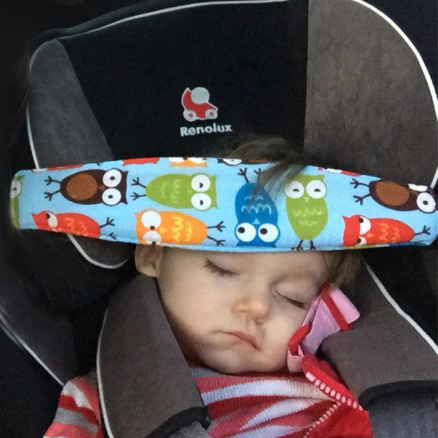 Bady Sleeping Head Support Pad Car Seat Headrest Strap Adjustable Child Safety Chair Belt Cover