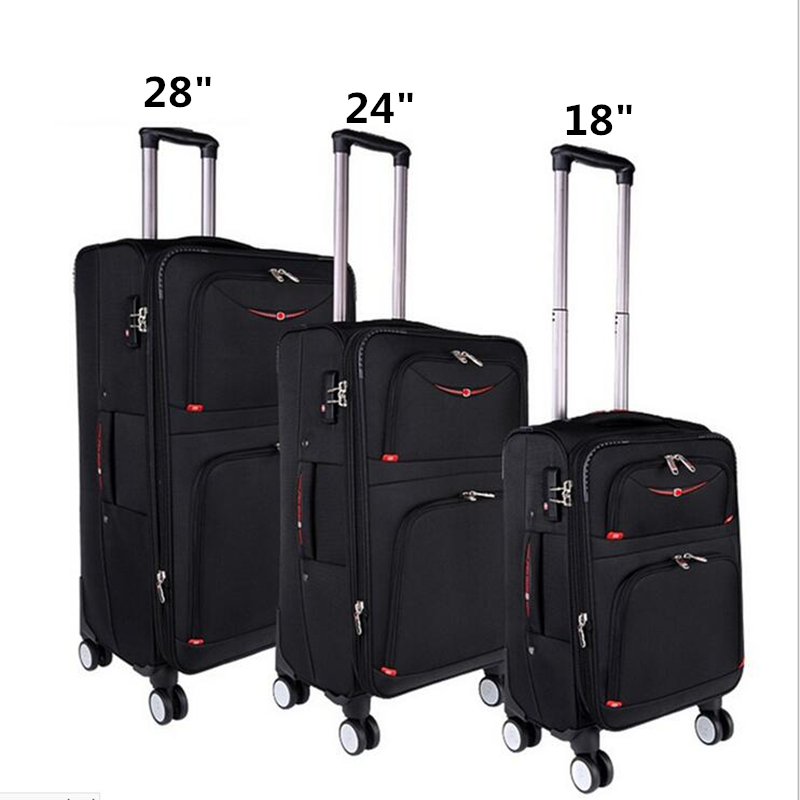 New 1680Nylon Suitcase Carry on Spinner Wheel Travel Luggage 18Trolley bag Wheeled Bag ...