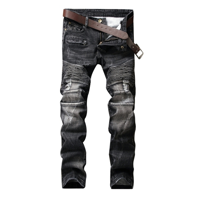 Aliexpress.com : Buy New Style Fold Small Feet Holes Mens Jeans ...