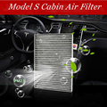 Высококачественный воздушный фильтр с активированным углем для салона  специальный фильтр для кондиционера Tesla Model S 2016-2018  аксессуары для и...