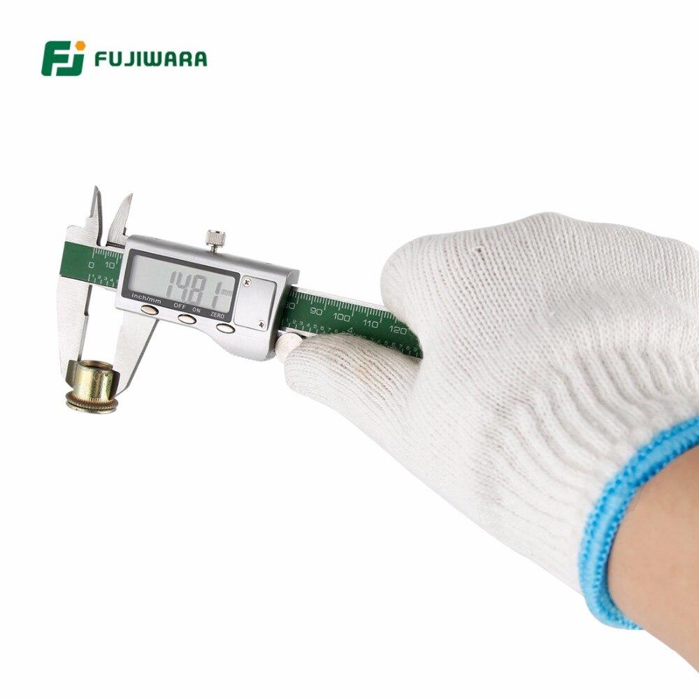 FUJIWARA Digital Manometer Stahl Sattel 0-150 MM hochpräzise Messschieber