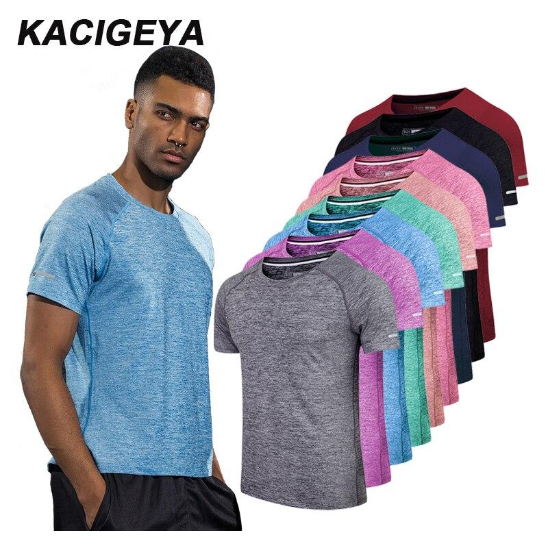 Camisa de Compressão para Homens e Mulheres Esportiva de Manga Curta para Academia e Corrida Camiseta