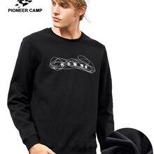Пионерский лагерь принт зима теплая толстовка мужская брендовая одежда толстый флис спортивный костюм мужской Качественный хлопок AWY701325