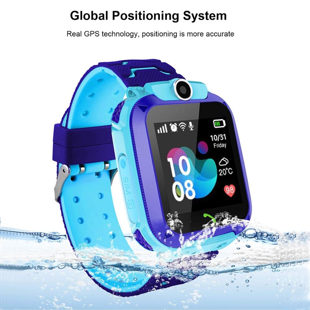Aisdo Anti Lost OLED Child GPS Tracker SOS Smart Monitoring Positioning Phone Kids GPS Baby Watch
