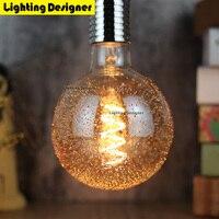 G125 Led Edison Bulb Spiral Dimmable Light The Dandelion Amber Retro Saving Lamp Vintage Filament Bubble