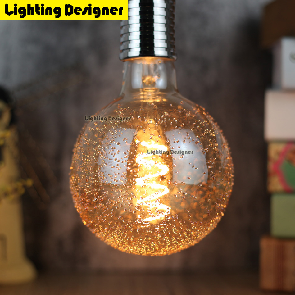 G125 led edison bulb spiral dimmable light The dandelion amber retro saving lamp vintage filament bubble ball bulb E27 led light led smart emergency lamp led bulb led e27 bulb lights light bulb energy saving 5w 7w 9w after power failure automatic lighting