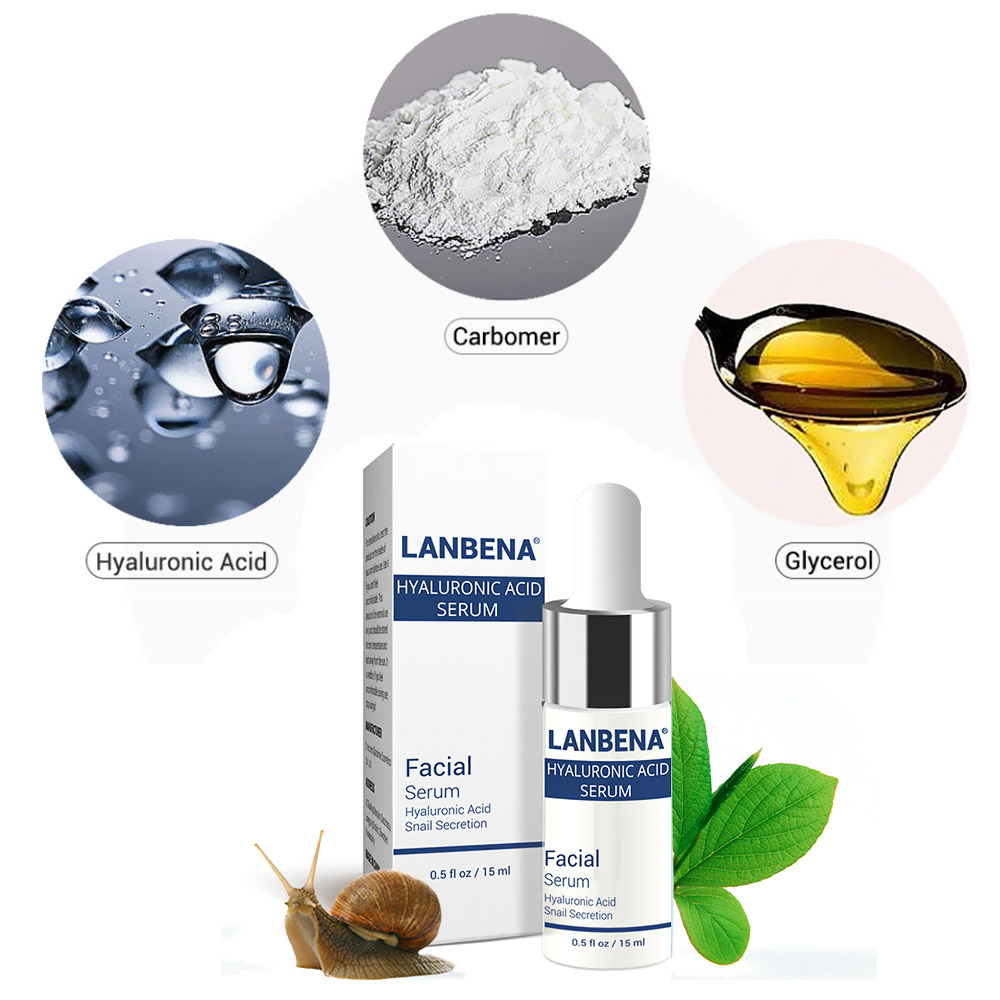 Hyaluronic Acid Serum Snail Serum Essence Acid Anti Wrinkles Face Acne Skin Repair Anti-Aging Moisturizing Whitening Skin Care  (9)
