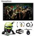 Новый Магазин! Универсальный 2 din Android 4.4 Авторадио Автомобильный радио GPS + Wifi + Bluetooth + quad core CPU + DDR3 1 Г без DVD