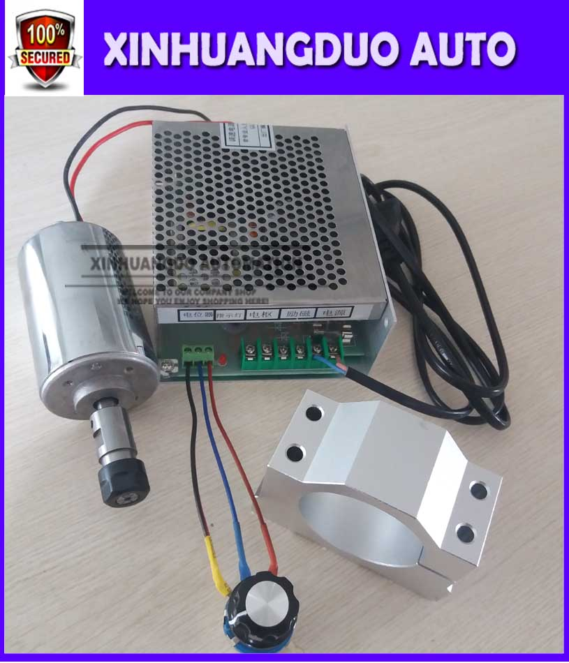 200w dc spindle motor + 52 mm clamp (send four screws) + Speed control power supplyPower Supply Speed Governor For DIY Engraving200w dc spindle motor + 52 mm clamp (send four screws) + Speed control power supplyPower Supply Speed Governor For DIY Engraving