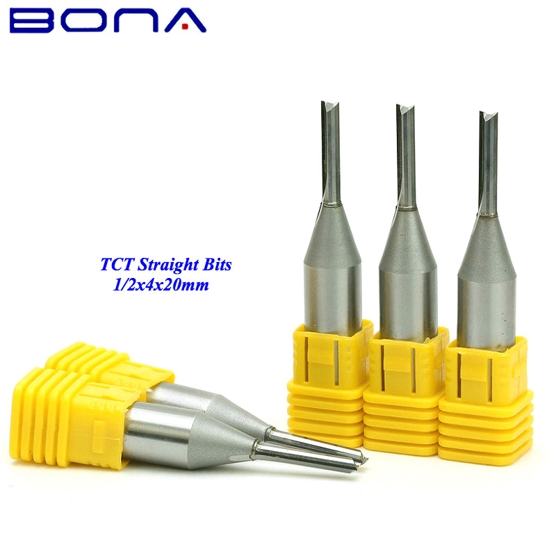 1 2 4 0mm 20mm Freeshipping CNC Straight End Mill woodworking insert router bit solid carbide