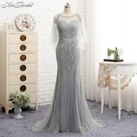 Latest Dress Design Gary Evening Gowns For Women Elegant Tulle Beaded Evening Dresses Party Gown Mermaid