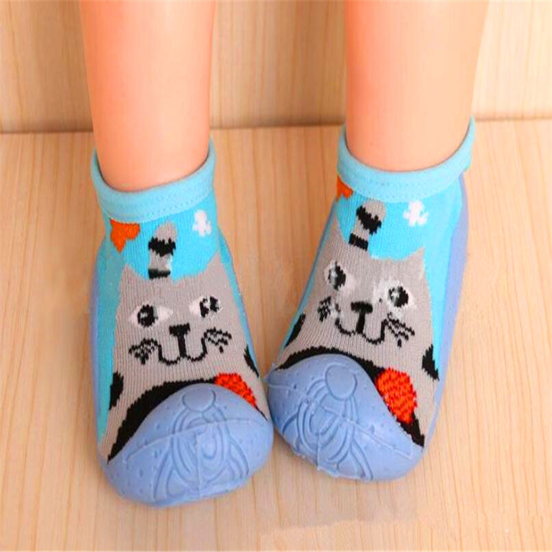 Girls' Boys' First Walkers Infant Socks With Rubber Soles Anti Slip Indoor Floor Shoes Baby Toddler Shoes LMY209LL