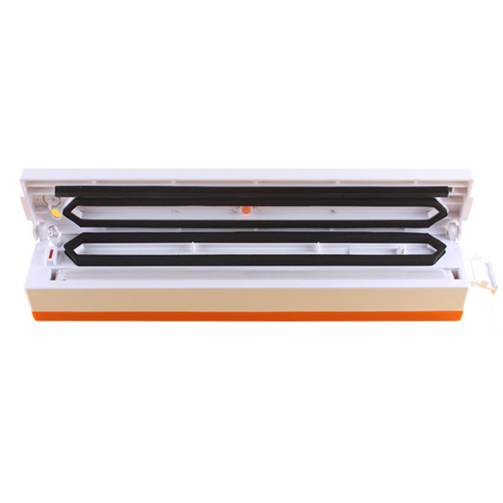 100W Household Food Vacuum Sealer Packaging Machine Automatic Electric Film Food Sealer Vacuum Packer White With orange zonesun free express shipping household vacuum food packaging machine plastic film sealer plastic packaing machine