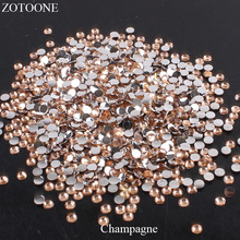 ZOTOONE 1000pcs FlatBack Nail Art Non HotFix Resin Rhinestones Stones For Clothes Decorations Strass Crystal Applique E