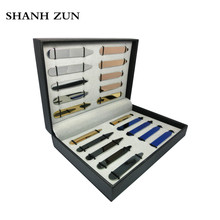 SHANH ZUN 20 Pcs High Grade Stainless Steel Collar Stays Tabs Bones 5 Colors in a Box Gift for Men - Sizes