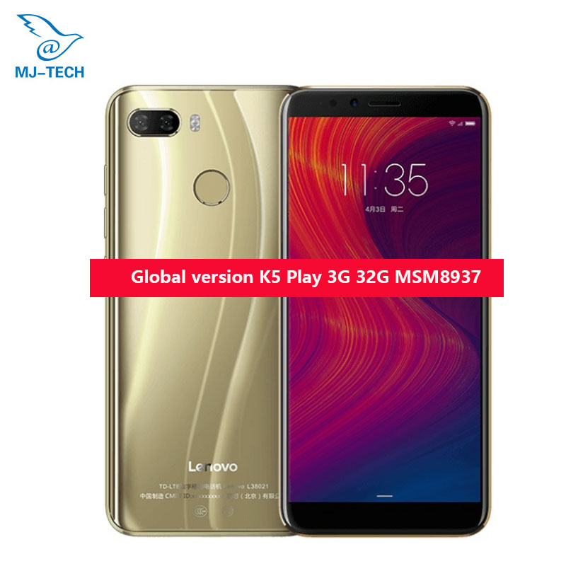 "100% QualitäT Ursprüngliche Globale Version Lenovo K5 Spielen 3g 32g Msm8937 Octa-core 1,4g 5,7 ""18:9 Fingerprint Android 8 13.0mp Smart Telefon"