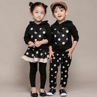 2pieces/set Girls boy Sports Suits baby clothes set minnie Autumn spring Kids tracksuit girls suit set dot sets Clothing outfits