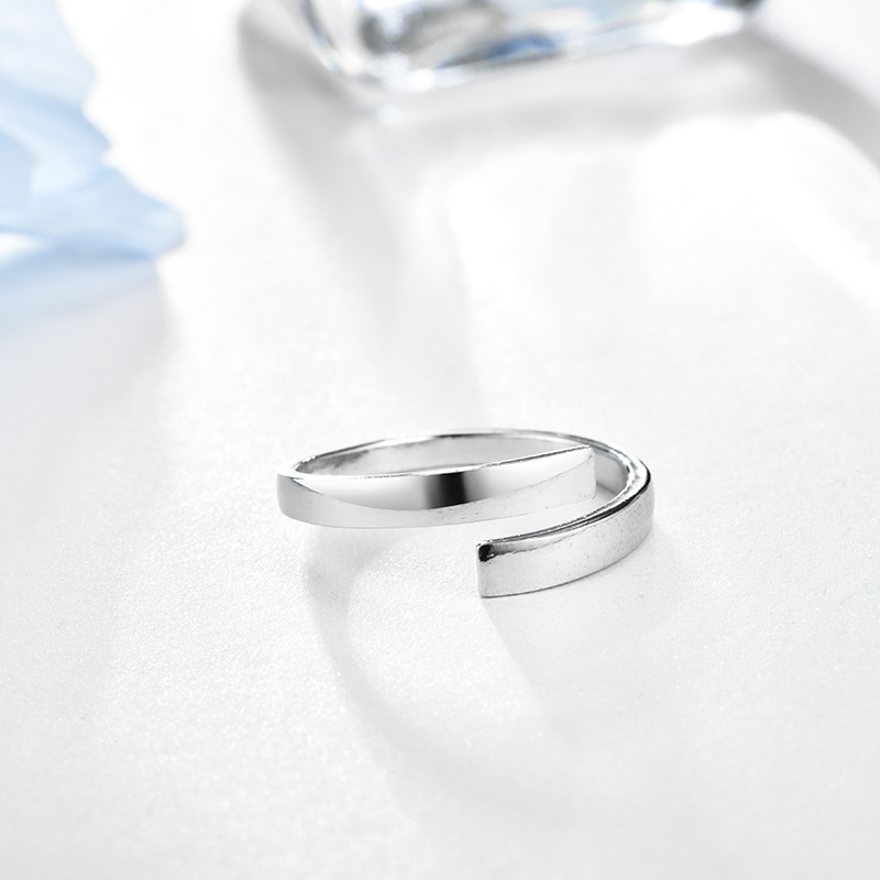 LZESHINE Customize Engraved Name Couple Ring 100 925 Sterling Silver Open Finger Ring For Lovers Anniversary Jewelry Gift in Rings from Jewelry Accessories