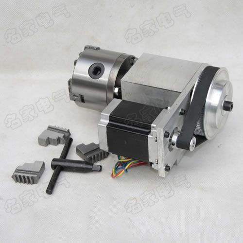 engraving machine fourth axis A shaft rotating shaft CNC dividing head K11 80mm four jaw chuck for cnc router 1pcs cnc 5 axis a aixs rotary axis three jaw chuck type for cnc router