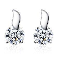 Hot Sale Fashion Charm Heart Zircon Stud Earrings  Feminine Leaflet For Women Jewelry Accessories Wholesale