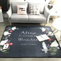 Современный черный и белый ковер скандинавском стиле гостиной спальня прикроватной тумбочке журнальный столик диван коврики ковры ребено