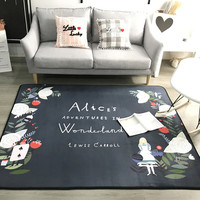 Modern Black And white Carpet Nordic style living room bedroom Bedside coffee table sofa Mats Carpets Child/Baby Room Crawl Rugs