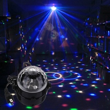 5W Voice Control Automatic RGB Mini LED Crystal Magic Ball Stage Effect Lighting Lamp For KTV Party Disco Club DJ Light