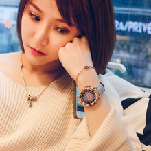 Luxury Brand Rose Gold Women Watch Fashion Casual Crystal Dress Wristwatch Leather Strap Quartz Watch Female Clock Reloj Mujer