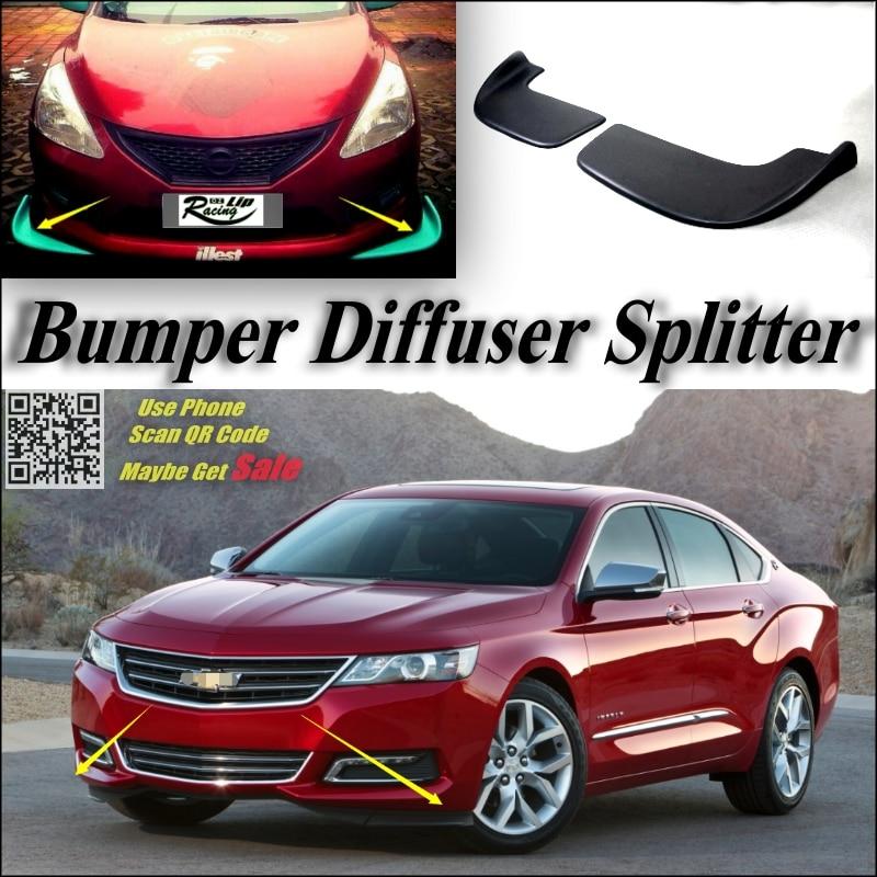 Car Splitter Diffuser Per Canard Lip For Chevrolet Impala Tuning Body Kit Front Deflector Flap Chin Reduce Refit
