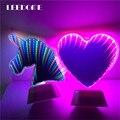 Светильник-туннель в форме сердца и фламинго  портативный светодиодный ночник С Эффектом Бесконечности  на батарейках АА