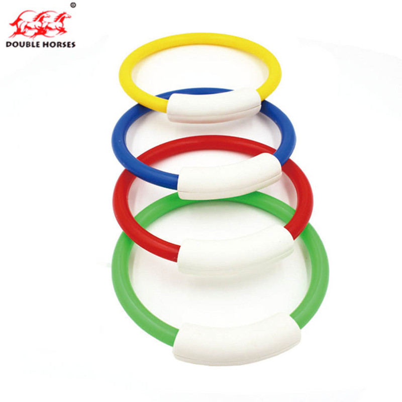 Hot 4 Pcs/Pack 2018 Child Kid Diving Ring Water Toys Underwater Swimming Pool Accessories Diving Buoys Four Loaded Throwing Toys