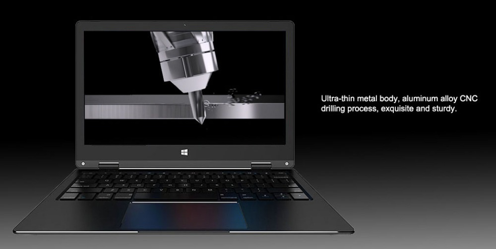 touchscreen laptop with CNC