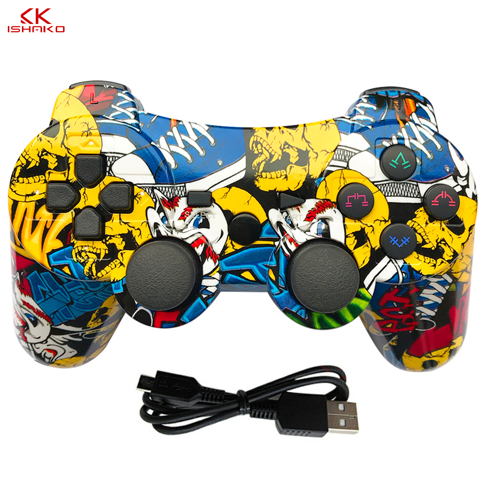 K ISHAKO mutil-colored wireless bluetooth gamepad for ps3 Pro controller Gamepad Dualshock Joystick Plastation3 Consoles