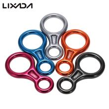 Lixada 35KN 8 Shape Descender Outdoor Rock Climbing Carabiners Abseiling Downhill Safety Ring For Device Equipment