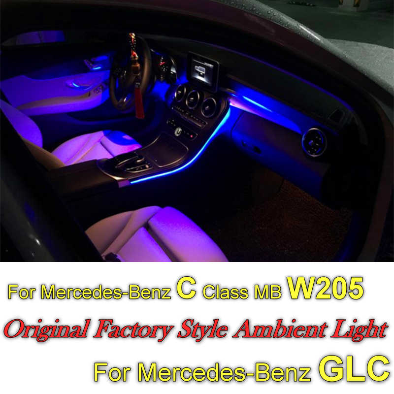 Dla Mercedes Benz C MB W205 GLC 2014 ~ 2020 deska rozdzielcza NOVOVISU wnętrze OEM oryginalne fabryczne atmosfera zaawansowane oświetlenie otoczenia