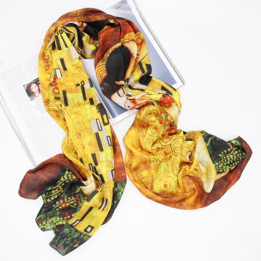 Silk Polyester Printing Scarf Long Shawls Elegant Lady Decent Lightweight Scarves Stoles Foulard Bandana Women Wraps LL190202C