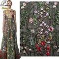 Panlong Главная Цвет Цветочные Сетки Вышивка Кружевной Ткани Высокого класса Cheongsam Платье Платье на заказ 1 ярдов