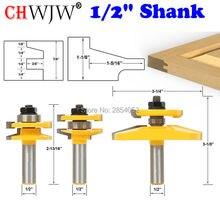 """3 Bit podnoszone Panel drzwi do szafki zestaw bitów rozwiertaków przekładnie stożkowe 1/2 """"nóż trzpieniowy czop frez do obróbki drewna narzędzia"""