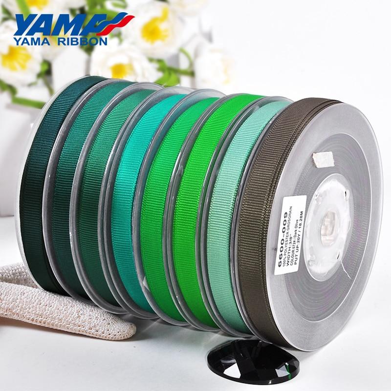 Яма 1/4 дюймов мм 6 мм ярдов/партия 100 зеленый серии оптовая продажа Grosgrain лента для Diy платье аксессуар дом Свадебные украшения