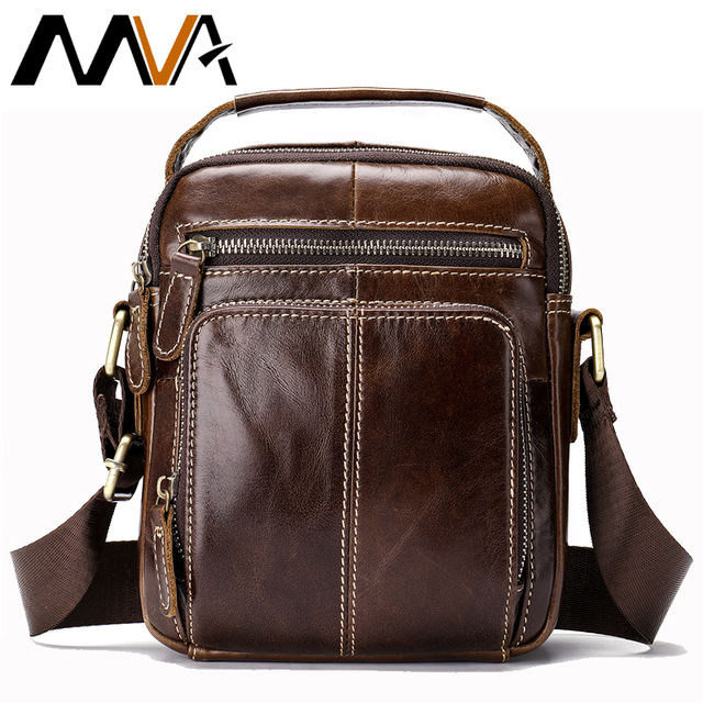 MVA Men's Shoulder Bag Vintage Handbags Bag Men's Genuine Leather Business Messenger Crossbody Bags bolsas male Gifts 8365