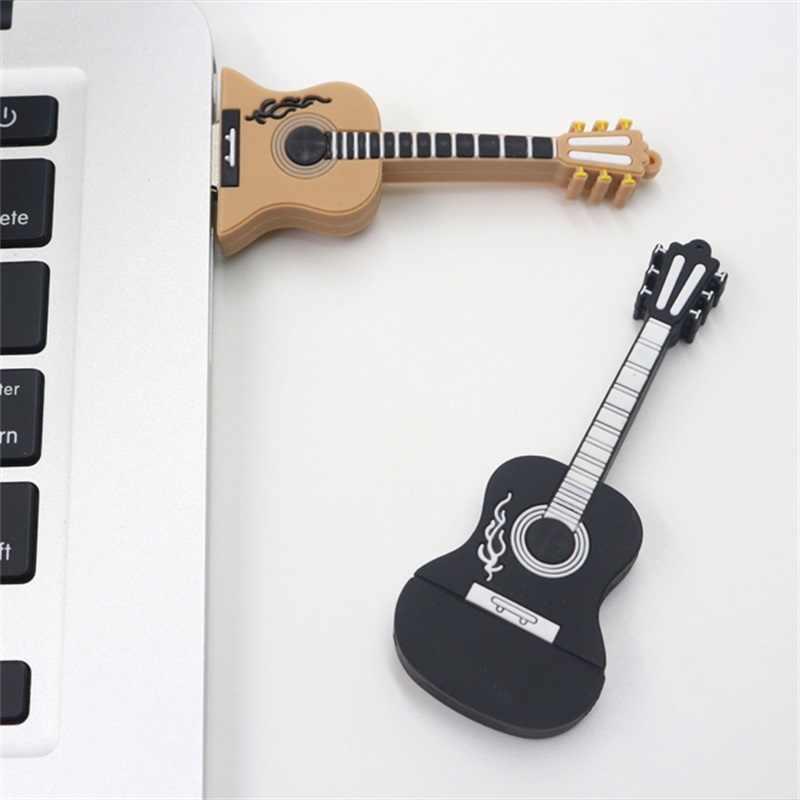 Гитара 64 ГБ флеш-накопитель usb флеш-накопитель 32 ГБ флеш-накопитель 16 Гб музыка Usb2.0 флеш-накопитель 8 ГБ 4 ГБ карта памяти U диск Бесплатная загрузка подарок