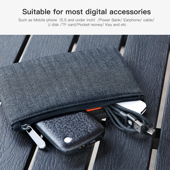 Baseus Portable Mobile Phone Pouch Bag for iPhone Samsung Xiaomi Huawei Bag Case for Cell Phone Accessories Storage Handbag Bag 5