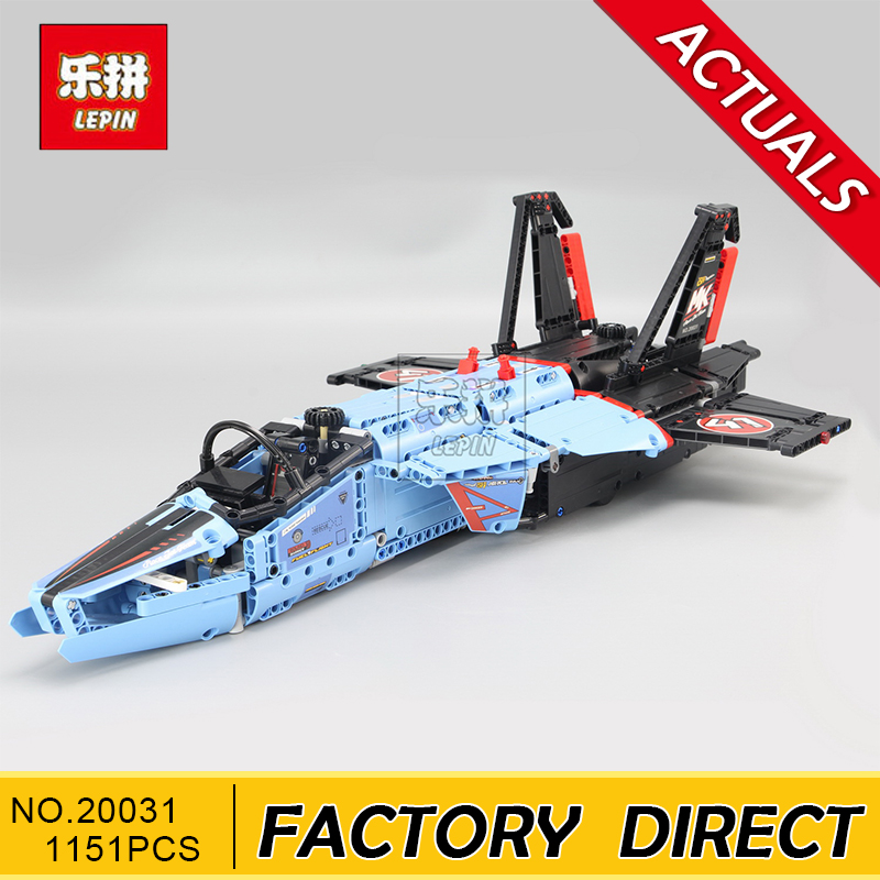 Lepin 20031 1151pcs new Technic Series The jet racing aircraft Model Building Kits Brick Toy Compatible 42066 lepin 20031 technic the jet racing aircraft 42066 building blocks model toys for children compatible with lego gift set kids